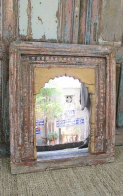 Antique Shrine Panel made into a mirror <b>RESERVED<b>